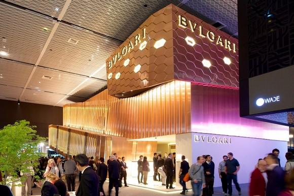 Lo-stand-Bulgari-a-Baselworld-2013. baselworld BaselWorld 2014 Hit 50 Exhibitors List Lo stand Bulgari a Baselworld 2013