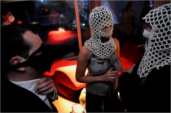 """""""Every year days before Art Basel, the highest-profile event on the jammed calendar of international art fairs, members of the art world's inner circle gathered in Zurich for a dinner in the concrete, bunkerlike storage room of a luxury fashion store.""""  Art Basel art parties 23500029"""