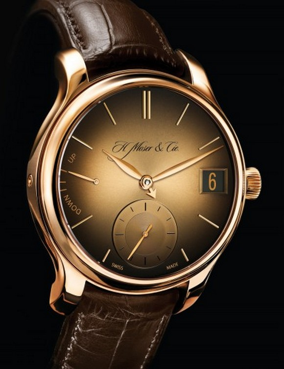 Fabulous solid gold watch from luxury Swiss watch brand Moser