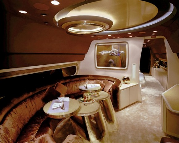 The private jet itself it's an extreme luxury form, but the interiors of it can be also. private jets interiors Extreme Luxury: Inside Private Jets Interiors luxury interior design