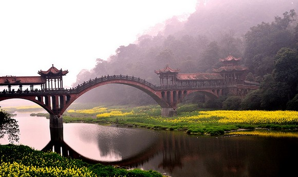Art works that survived the passage of the years, traveling around the world, old bridges, art works, scenes of nature, Art Space, Basel Shows  Art works that survived the passage of the years Leshan Sichuan Province China
