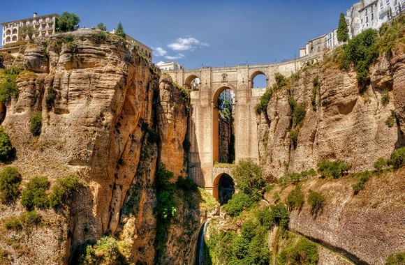 Art works that survived the passage of the years, traveling around the world, old bridges, art works, scenes of nature, Art Space, Basel Shows  Art works that survived the passage of the years Ronda Malaga Spain