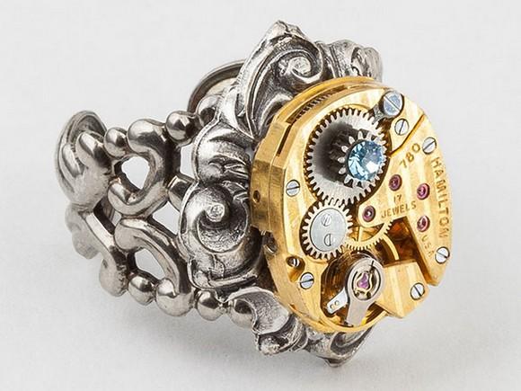 Rare and unique jewelry pieces, rare and unique design pieces, design pieces, jewelry pieces, unique jewelry pieces, Jewelry brands  Rare and unique jewelry pieces Steampunk ring rare jewelry1